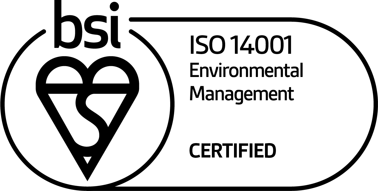 ISO 14001 Environmental Management certified