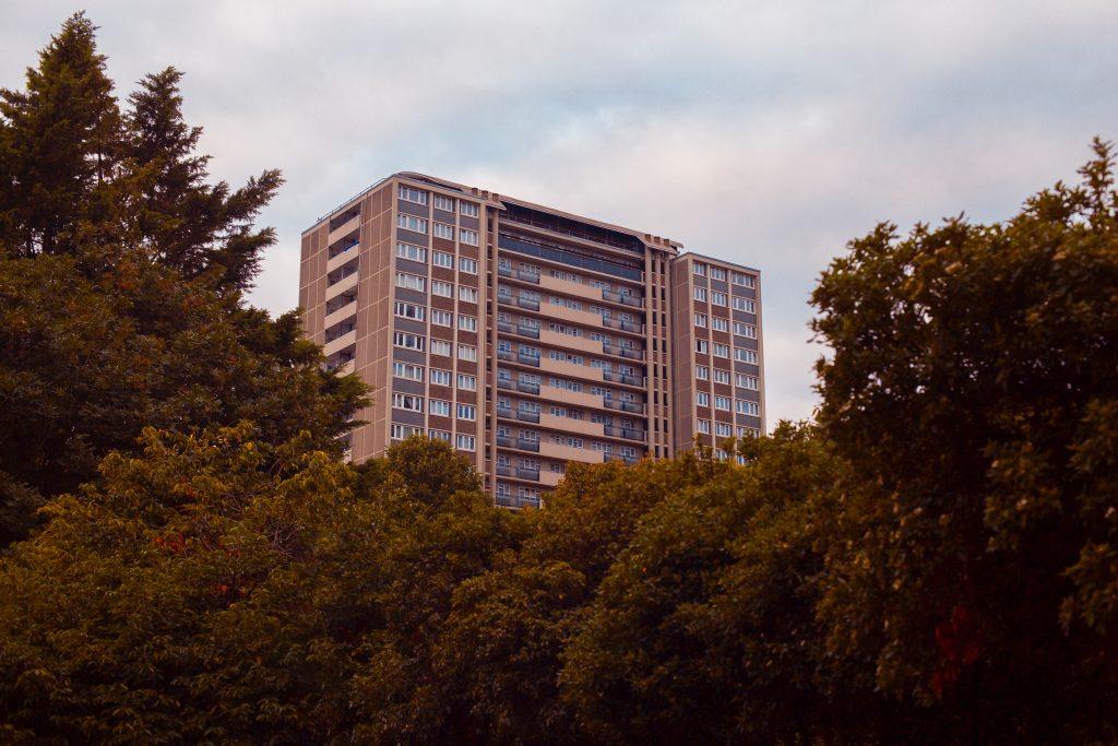 housing block in London